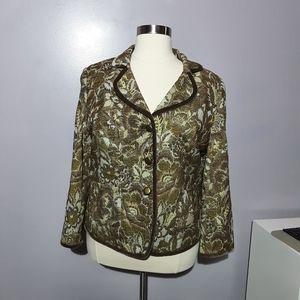 Talbots tapestry velvet blazer jacket
